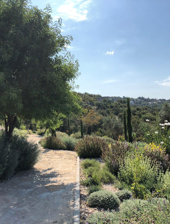 Chemin à travers la végétation du Jardin en Algarve