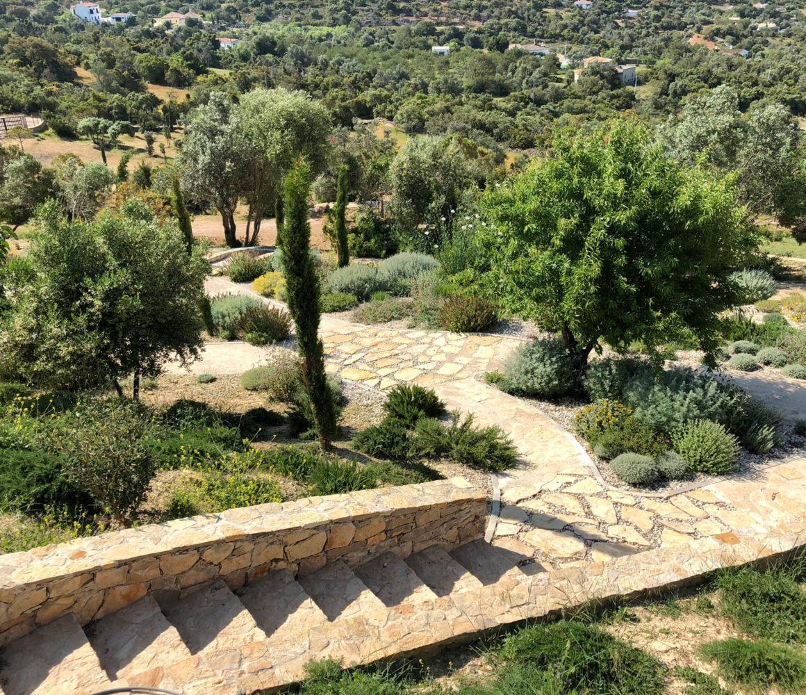 La brique portugaise du Jardin en Algarve